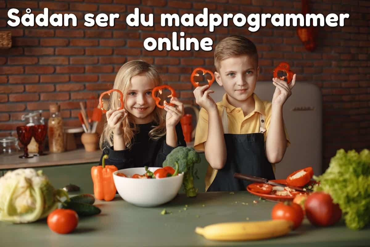 Sådan ser du madprogrammer online
