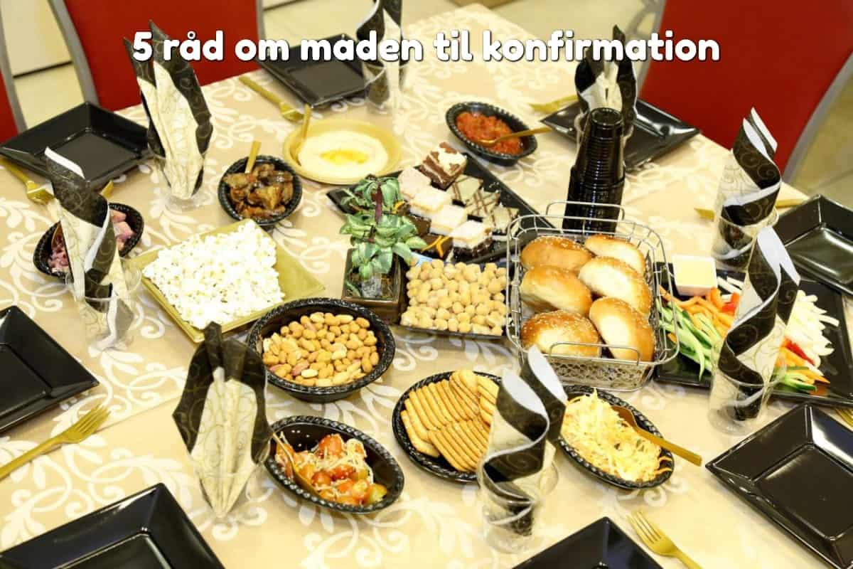 5 råd om maden til konfirmation